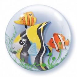 Pallone Bubble Pesci 60 cm