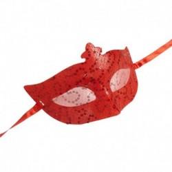 Maschera Pizzo domino red