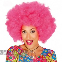 Parrucca Afro Pink