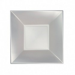 Piatti Quadrati Plastica 18 cm