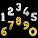 Numeri Mylar 20 cm