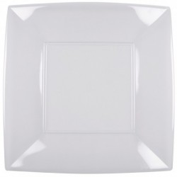 Piatto Quadrato Piano Maxi Trasparente