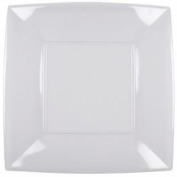 8 Piatti Plastica Quadrati Trasparente 30 cm