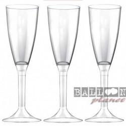 6 Flütes Plastica Trasparente 120 ml