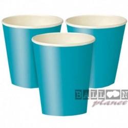 14 Bicchieri Carta Turchese Teal 266 ml