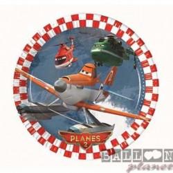 8 Piatti Tondi Carta Planes 20 cm