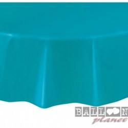 Tovaglia Plastica Tonda Turchese Teal 205 cm