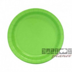 20 Piatti Tondi Carta Verde Lime 18 cm