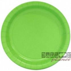 16 Piatti Tondi Carta Verde Lime 23 cm