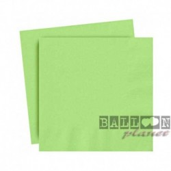 20 Tovaglioli Carta Verde Lime 25x25 cm