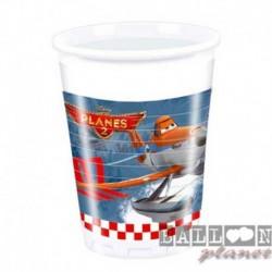 8 Bicchieri Plastica Planes 200 ml