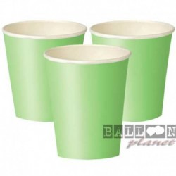 8 Bicchieri Carta Verde Lime 266 ml