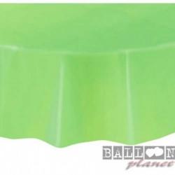 Tovaglia Plastica Tonda Verde Lime 205 cm