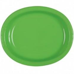 8 Vassoi Carta Verde Lime 30x25