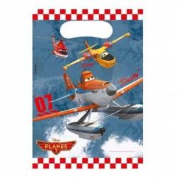6 Loot Bags Planes 18x22 cm