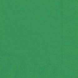 20 Tovaglioli Carta Verde Smeraldo 33x33 cm