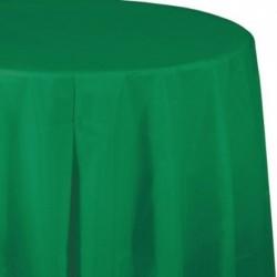 Tovaglia Plastica Tonda Verde Smeraldo 205 cm
