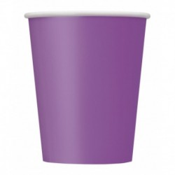 14 Bicchieri Carta Viola Scuro 266 ml