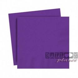 20 Tovaglioli Carta Viola Scuro 25x25 cm
