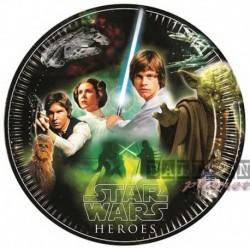 8 Piatti Tondi Carta Star Wars23 cm