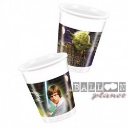 8 Bicchieri Plastica Star Wars 200 ml