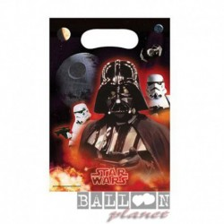 6 Loot Bags Star Wars 18x22 cm