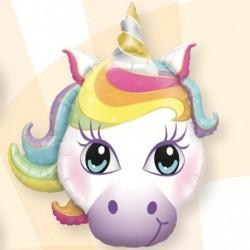 Pallone Testa Unicorno 80 cm