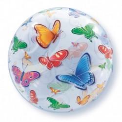 Pallone Deco Bubble Farfalle 56 cm
