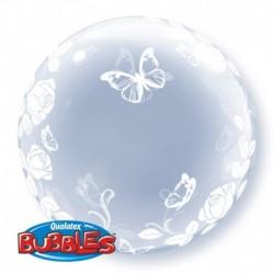 Pallone Deco Bubble Farfalle 60 cm
