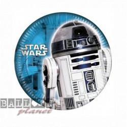 8 Piatti Tondi Carta Star Wars 20 cm