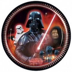 8 Piatti Tondi Carta Star Wars 23 cm