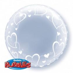 Pallone Deco Bubble Cuori 60 cm