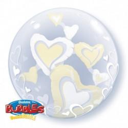Pallone Deco Bubble Heart 60 cm