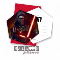 6 Inviti e Buste Star Wars