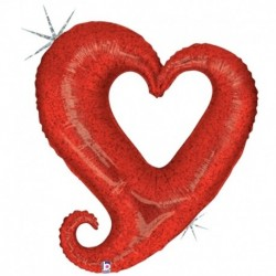 Pallone Heart Rosso 70 cm