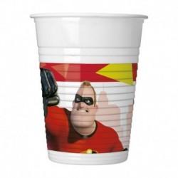 8 Bicchieri Plastica Gli Incredibili 200 cc