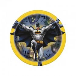 8 Piatti Tondi Carta Batman 20 cm