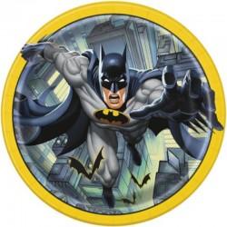 8 Piatti Tondi Carta Batman 23 cm