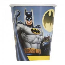 8 Bicchieri Carta Batman 266 ml
