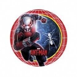 8 Piatti Tondi Carta Ant Man 20 cm
