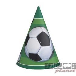 6 Cappellini Carta Calcio 12x16 cm
