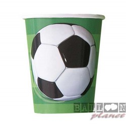 8 Bicchieri Carta Calcio 266 ml