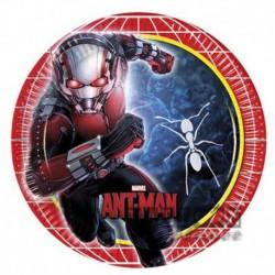 8 Piatti Tondi Carta Ant Man 23 cm