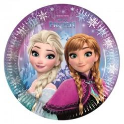8 Piatti Tondi Carta Frozen 23 cm