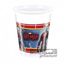 8 bicchieri Plastica Ant Man 200 ml