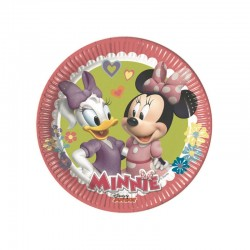 8 Piatti Tondi Carta Minnie 20 cm