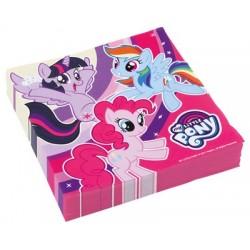 20 Tovaglioli Carta Little Pony 33x33 cm