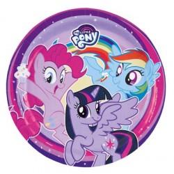 8 Piatti Tondi Carta Little Pony 23 cm