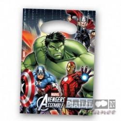 6 Loot Bags Avengers 18x22 cm