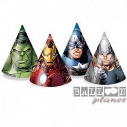 6 Cappellini Carta Avengers 12x16 cm